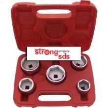 Trusa de chei tubulare cu profil jos pentru filtre de ulei 3/8 - 5 piese