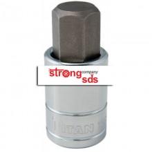 Imbus scurt hexagon H14, cu adaptor 1/2